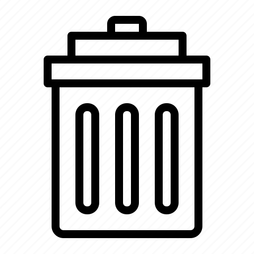 bin, garbage, rubbish, trash, waste icon