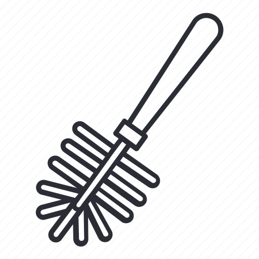 brush, cleaner, cleaning, pipe, toilet, toilet brush icon