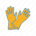 clean, glove, household, housework, latex, medical, service icon