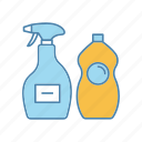 chemicals, cleaner, cleaning, dishwash, liquid, pproduct, window icon