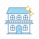 cleaning, cottage, hotel, house, household, housework, service icon