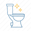 bathroom, clean, cleaning, lavatory, pan, service, toilet icon