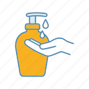 antibacterial, disinfection, gel, hand, hygiene, liquid, soap icon