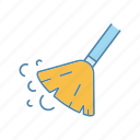 broom, clean, cleaning, floor, service, sweeping, tidy icon