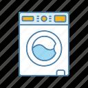 appliance, household, housework, laundry, washer, washing machine, washing up icon