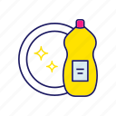 agent, chemicals, cleaning, detergent, dish, liquid, washing icon