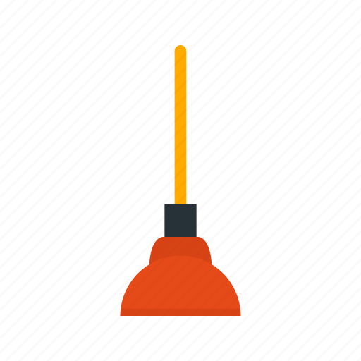 bathroom, cleaning, plunger, pump, toilet, tool, unclog icon