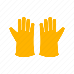 cleaning, domestic, gloves, hand, protect, rubber, work icon