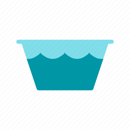 bucket, clean, container, handle, home, plastic, water icon