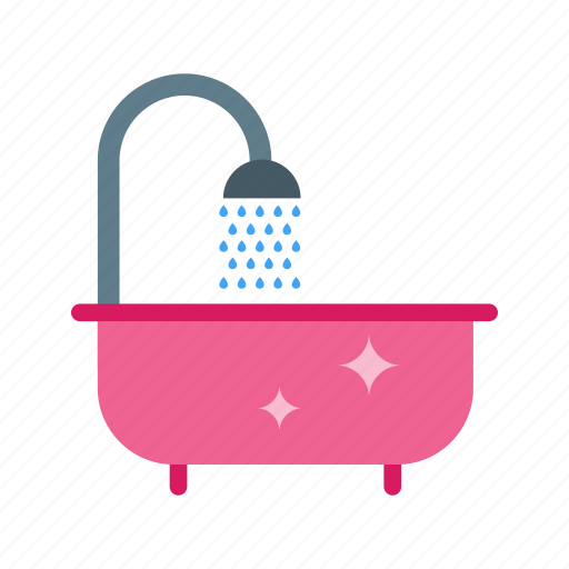 bath, cleaning, home, rag, tap, tub, water icon