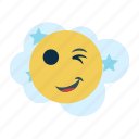avatar, expression, facial, head, humor, wink, winky