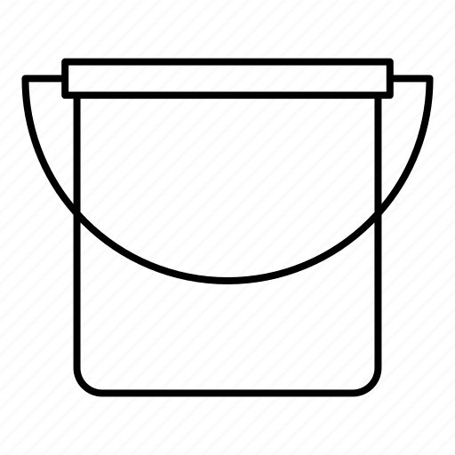 bucket, cleaning, container, water icon