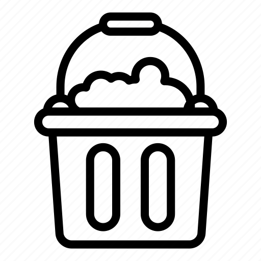 bucket, cleaning1, housekeeping, mop icon