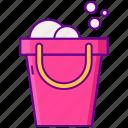 cleaning, bucket, washing
