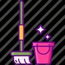 mop, clean, washing