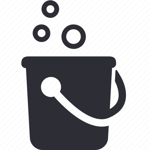 bucket, clean, cleaning, liquid, mop, soap icon