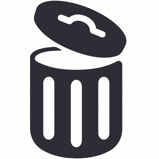 bin, can, garbage, litter, rubbish, trash, waste icon