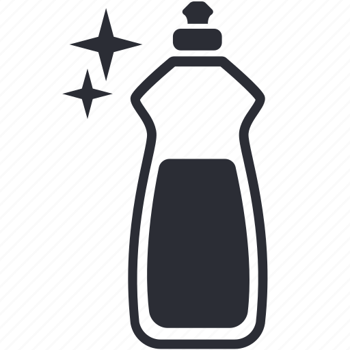 bottle, cleanser, detergent, dish, dishwashing, liquid icon