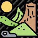 desert, sand, dune, arid, mountain