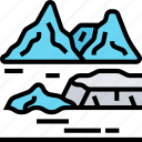 glacier, iceberg, snow, mountain, arctic