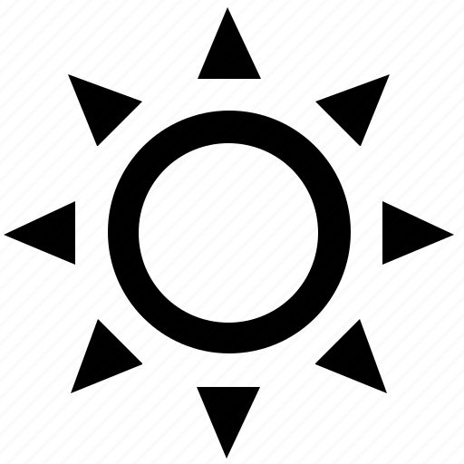 climate, control, function, hot, sun icon