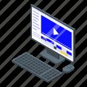 business, cartoon, computer, isometric, maker, man, video