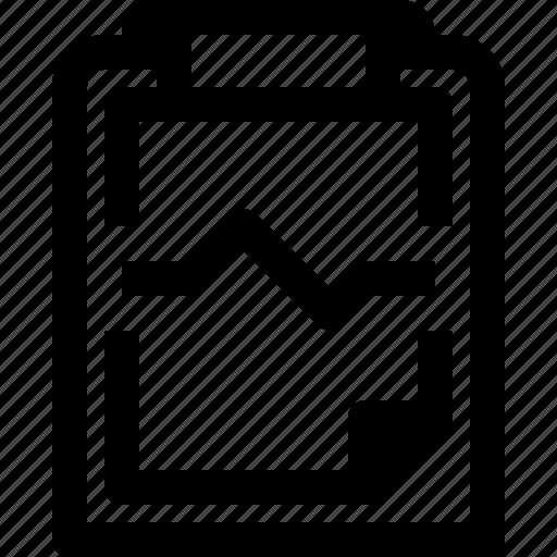 business, clipboard, document, graph, management, paper, plan icon