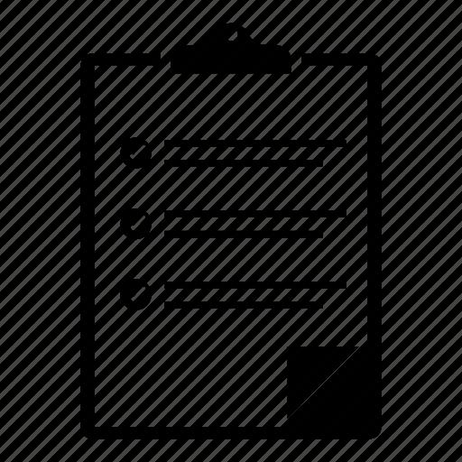 bulettin board, check mark, checklist, clipboard, document, notes icon