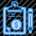 board, business, check, clipboard, list, money, pad icon