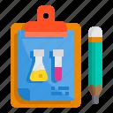board, check, clipboard, list, pad, science