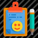 board, check, clipboard, list, pad, smile