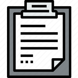 business, clipboard, data, document, file, paper, text icon