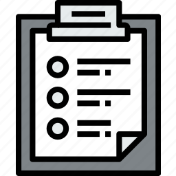 business, clipboard, data, document, file, list, paper icon