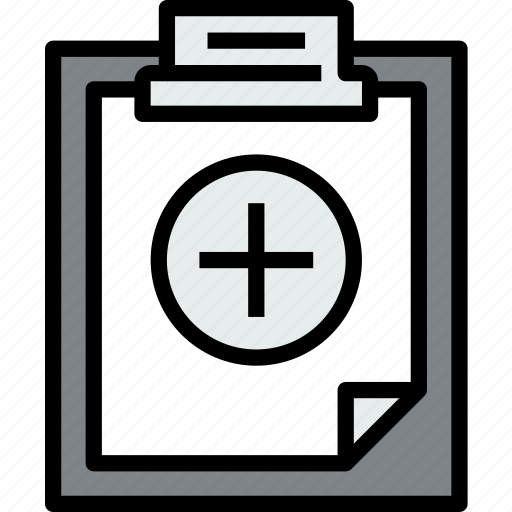 add, business, clipboard, data, document, file, paper icon