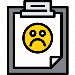 bad, business, clipboard, data, document, file, paper icon