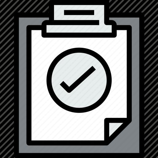 business, check, clipboard, data, document, file, paper icon