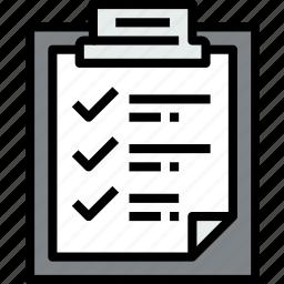 business, checklist, clipboard, data, document, file, paper icon