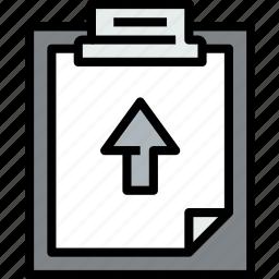 business, click, clipboard, data, document, file, paper icon