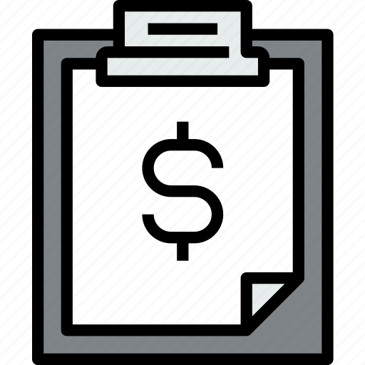 business, clipboard, data, document, file, finance, paper icon