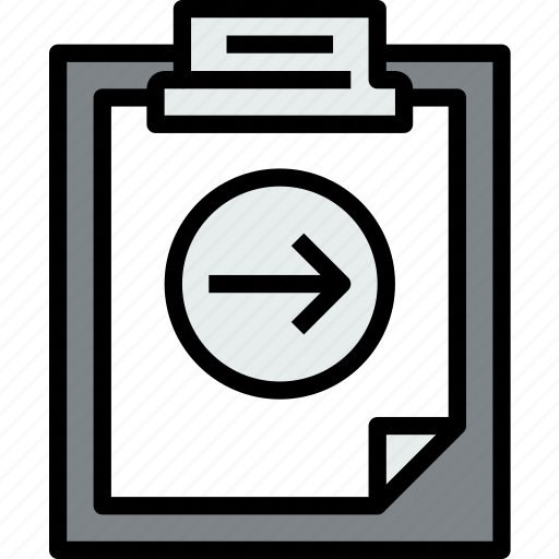 business, clipboard, data, document, file, paper, right icon