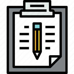 business, clipboard, data, document, file, paper, write icon