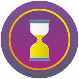 clocks, glass, time icon