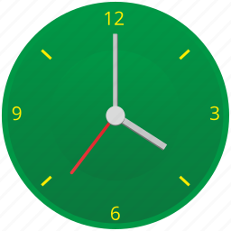 clocks, green, time, watches icon