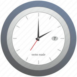 clocks, made, swiss, time, watches icon