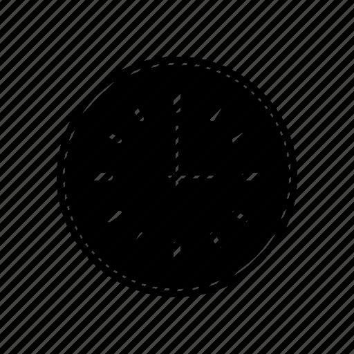clock, full, wall icon