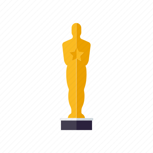 award, cinema, entertainment, gold, movie, statue, winner icon