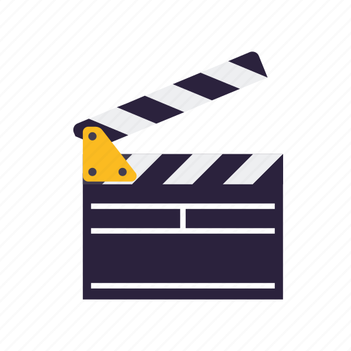 cinema, clapper, entertainment, movie, set icon