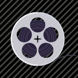 cinema, entertainment, film, movie, reel, spool icon