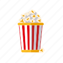 bucket, cinema, entertainment, food, movie, popcorn icon