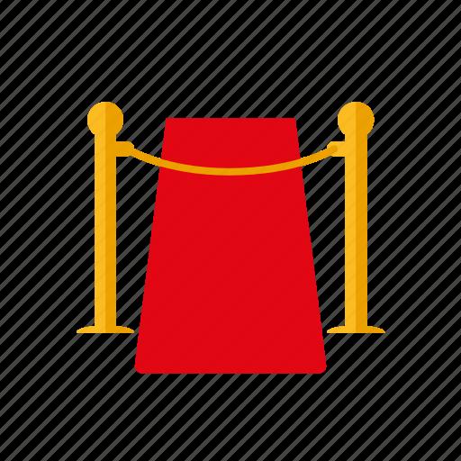 cordon, entertainment, entrance, movie, premiere, red carpet, show icon